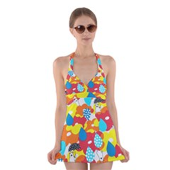 Bear Umbrella Halter Swimsuit Dress