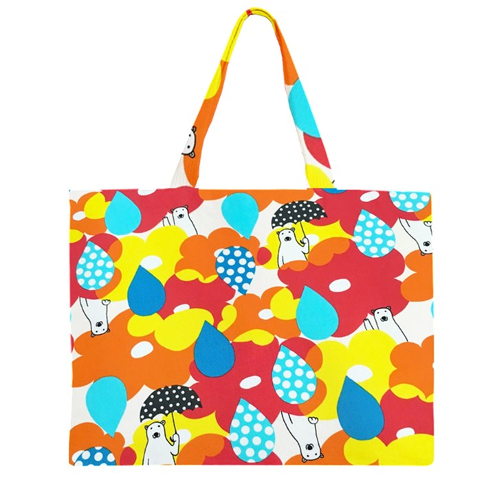 Bear Umbrella Large Tote Bag