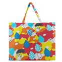 Bear Umbrella Zipper Large Tote Bag View1