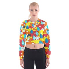 Bear Umbrella Women s Cropped Sweatshirt
