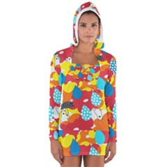 Bear Umbrella Women s Long Sleeve Hooded T-shirt