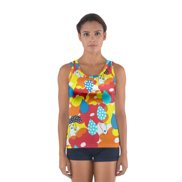 Bear Umbrella Women s Sport Tank Top