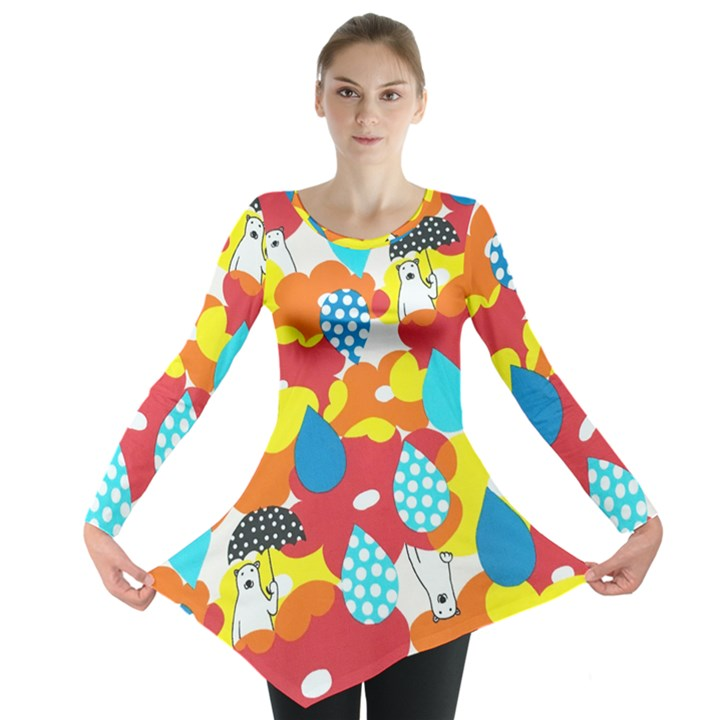 Bear Umbrella Long Sleeve Tunic