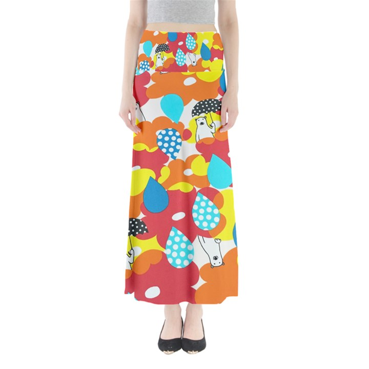 Bear Umbrella Maxi Skirts