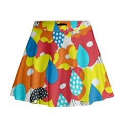 Bear Umbrella Mini Flare Skirt