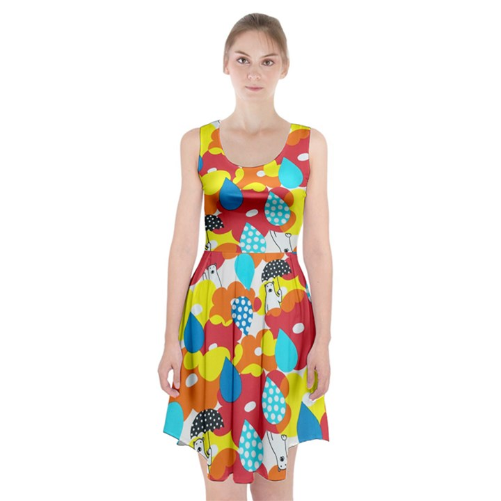 Bear Umbrella Racerback Midi Dress