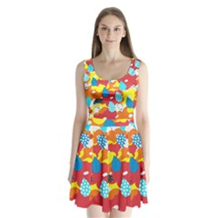 Bear Umbrella Split Back Mini Dress