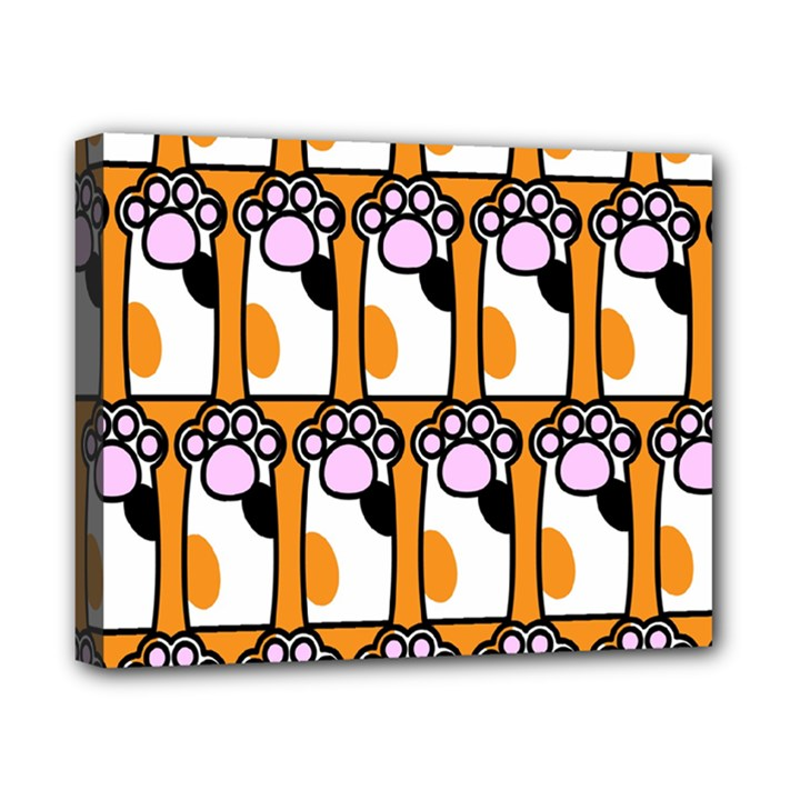 Cute Cat Hand Orange Canvas 10  x 8