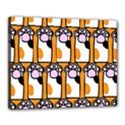 Cute Cat Hand Orange Canvas 20  x 16  View1