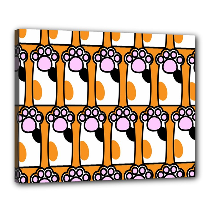 Cute Cat Hand Orange Canvas 20  x 16