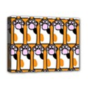 Cute Cat Hand Orange Deluxe Canvas 16  x 12   View1