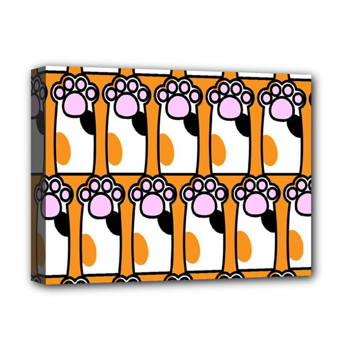 Cute Cat Hand Orange Deluxe Canvas 16  x 12