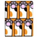 Cute Cat Hand Orange Apple iPad 3/4 Flip Case View1