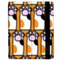 Cute Cat Hand Orange Apple iPad Mini Flip Case View2