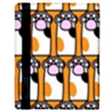 Cute Cat Hand Orange Apple iPad Mini Flip Case View3
