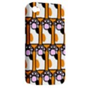 Cute Cat Hand Orange Apple iPhone 4/4S Hardshell Case (PC+Silicone) View2