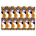 Cute Cat Hand Orange Samsung Galaxy Tab 10.1  P7500 Flip Case View1