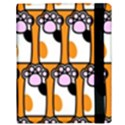 Cute Cat Hand Orange Samsung Galaxy Tab 10.1  P7500 Flip Case View3