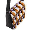 Cute Cat Hand Orange Flap Messenger Bag (L)  View2