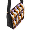 Cute Cat Hand Orange Flap Messenger Bag (S) View2