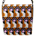 Cute Cat Hand Orange Flap Covers (S)  View1