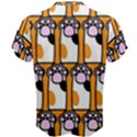 Cute Cat Hand Orange Men s Cotton Tee View2