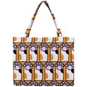 Cute Cat Hand Orange Mini Tote Bag View1