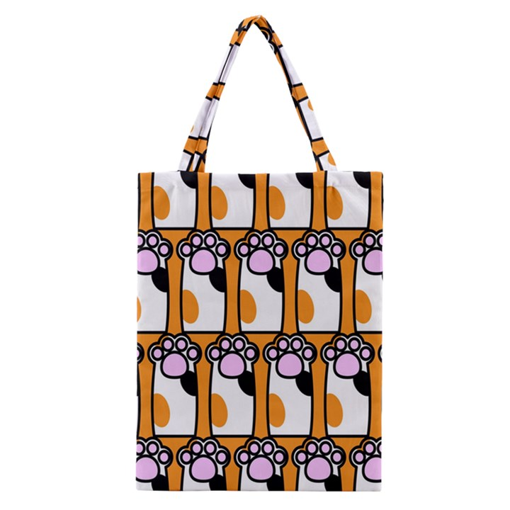 Cute Cat Hand Orange Classic Tote Bag
