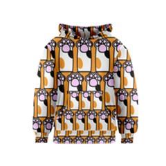 Cute Cat Hand Orange Kids  Pullover Hoodie