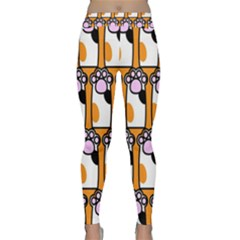Cute Cat Hand Orange Classic Yoga Leggings
