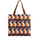 Cute Cat Hand Orange Zipper Grocery Tote Bag View1