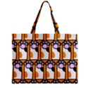 Cute Cat Hand Orange Zipper Mini Tote Bag View1