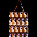 Cute Cat Hand Orange Zipper Classic Tote Bag View2