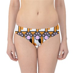 Cute Cat Hand Orange Hipster Bikini Bottoms