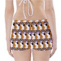 Cute Cat Hand Orange Boyleg Bikini Wrap Bottoms View2