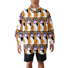 Cute Cat Hand Orange Wind Breaker (Kids)