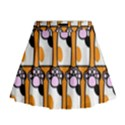 Cute Cat Hand Orange Mini Flare Skirt View1