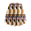 Cute Cat Hand Orange Mini Flare Skirt View2