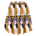 Cute Cat Hand Orange High Waist Skirt View2