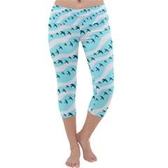 Darkl Ight Fly Blue Bird Capri Yoga Leggings