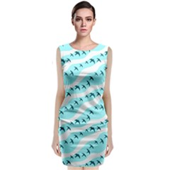 Darkl Ight Fly Blue Bird Classic Sleeveless Midi Dress