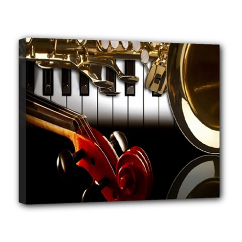 Classical Music Instruments Canvas 14  x 11