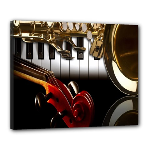 Classical Music Instruments Canvas 20  x 16