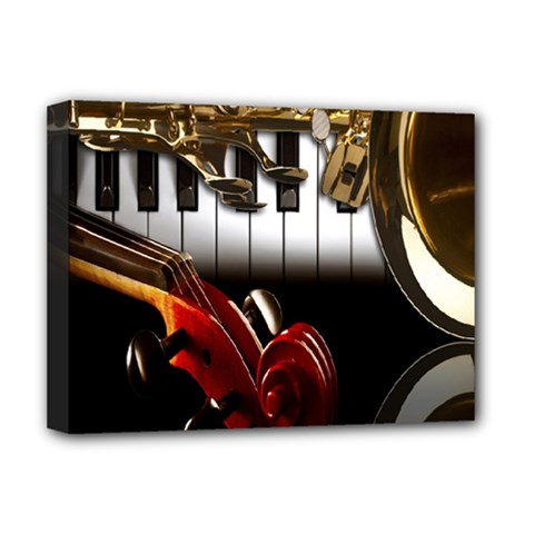 Classical Music Instruments Deluxe Canvas 16  x 12