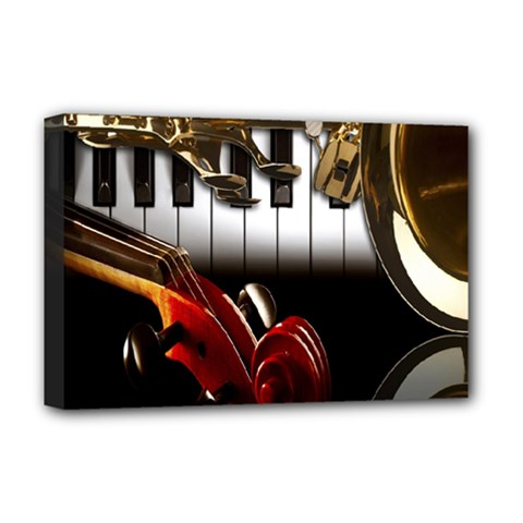Classical Music Instruments Deluxe Canvas 18  x 12