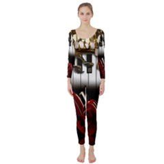 Classical Music Instruments Long Sleeve Catsuit