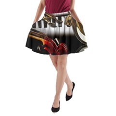 Classical Music Instruments A-Line Pocket Skirt