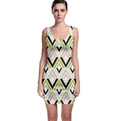 Chevron Pink Green Copy Sleeveless Bodycon Dress