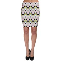 Chevron Pink Green Copy Bodycon Skirt