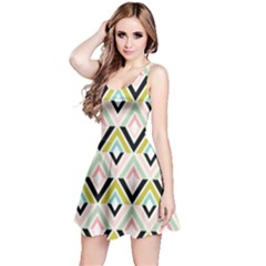 Chevron Pink Green Copy Reversible Sleeveless Dress